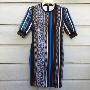 Clover Canyon multi color neoprene print dress L